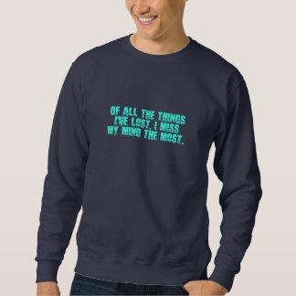 私の心のワイシャツを恋しく思って下さい-スタイル及び色を選んで下さい スウェットシャツ