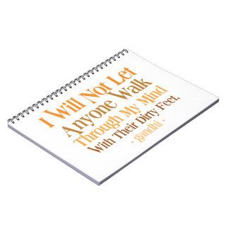 私の心の引用文Gandhiによって ノートブック