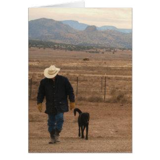 私の心サポート-西部牧場犬の恋人 カード