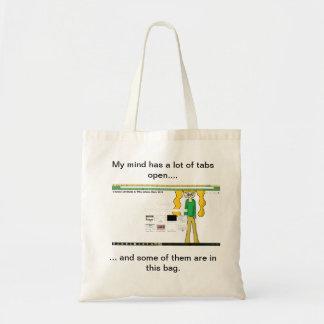 """""""私の心多くのタブの開いた""""にバッグがあります トートバッグ"""