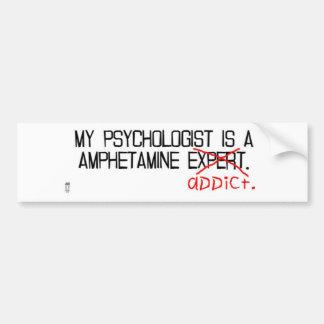 私の心理学者は常習者です バンパーステッカー