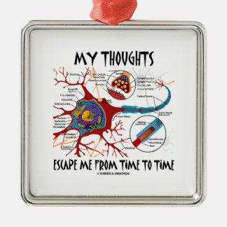 私の思考によっては時間私がニューロンシナプスを時間を計る脱出します メタルオーナメント
