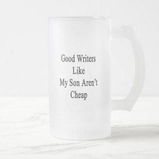 私の息子のようなよい作家は安くないです フロストグラスビールジョッキ