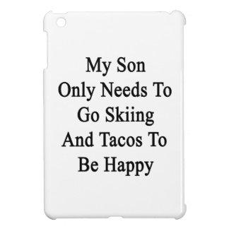 私の息子の偶然があるためにスキーおよびタコス行く必要性だけ iPad MINIカバー