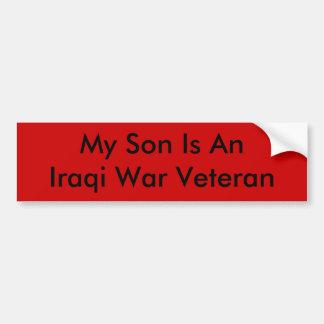 私の息子はイラク戦争の退役軍人です バンパーステッカー