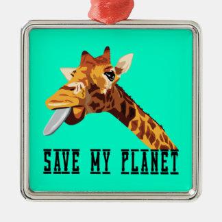 私の惑星のキリンを救って下さい メタルオーナメント