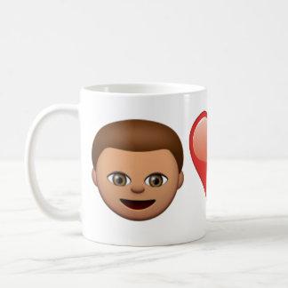 私の愛は携帯電話のEmojiのマグです コーヒーマグカップ