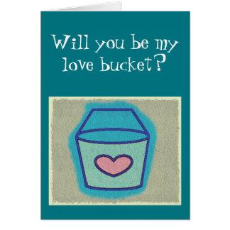 私の愛バケツですか。 バレンタインのカード カード