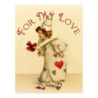 私の愛ヴィンテージのバレンタインのため ポストカード