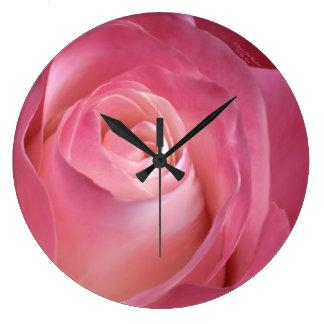 私の愛柱時計のための花 ラージ壁時計