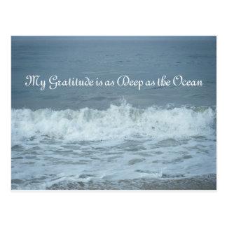 私の感謝は海深いです! ありがとう ポストカード