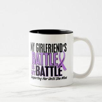 私の戦い余りに1ガールフレンドのHodgkinのリンパ腫 ツートーンマグカップ