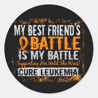 私の戦い余りに2つの白血病の親友の女性 ラウンドシール