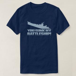 私の戦艦のレトロのタイポグラフィのゲーマーの暗闇沈む Tシャツ