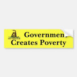 私の政府で作成します窮乏を踏まないで下さい バンパーステッカー