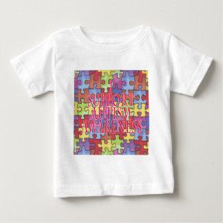 私の新しいデザインのサポート自閉症の認識度! ベビーTシャツ