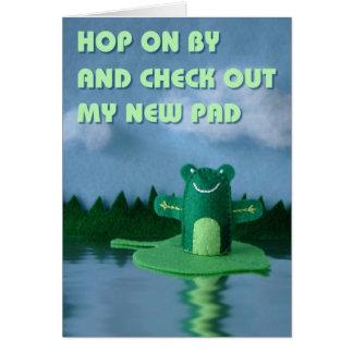 私の新しいパッドを点検して下さい グリーティングカード