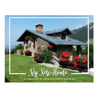 私の新しい家の写真の移動発表 ポストカード