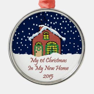 私の新しい家の2015第1クリスマス メタルオーナメント