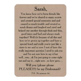 私の新婦付添人ですか。 カスタムなテキスト・カード カード