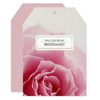 私の新婦付添人ですか。 カスタムな招待状カード 12.7 X 17.8 インビテーションカード
