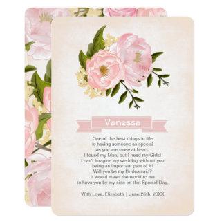 私の新婦付添人ですか。 カスタムな招待状 カード