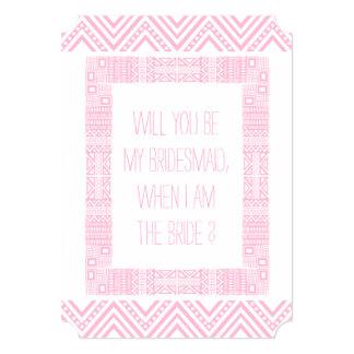 私の新婦付添人ですか。 ピンクの民族Boho-chic1 カード