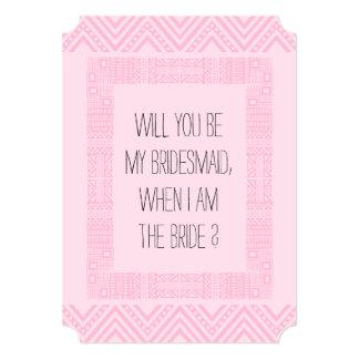 私の新婦付添人ですか。 ピンクの民族Boho-chic2 カード