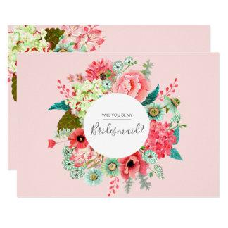 私の新婦付添人|の郵便はがきの招待状です カード