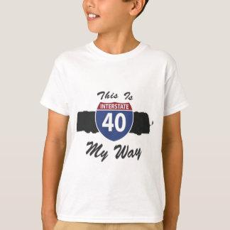 私の方法はハイウェー-州連帯の40 RVのmotorhomeです Tシャツ