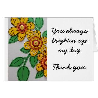 私の日の上に明るくして下さい-ありがとう カード