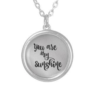 私の日光です シルバープレートネックレス