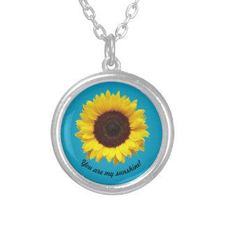 私の日光です! ヒマワリのネックレス シルバープレートネックレス