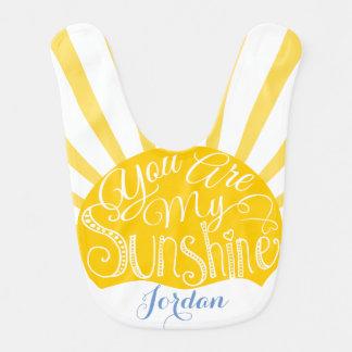 私の日光のベビー用ビブの太陽の黄色です ベビービブ