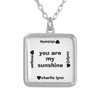 私の日光の名前入りな一流のネックレスです シルバープレートネックレス