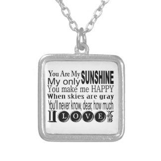私の日光私の日光だけです シルバープレートネックレス