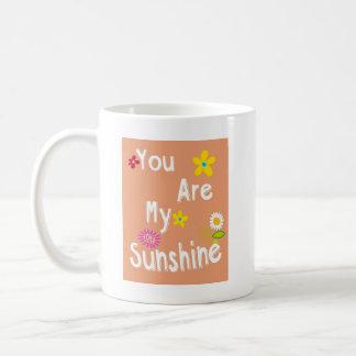 """""""私の日光""""のタイポグラフィ-オレンジです コーヒーマグカップ"""