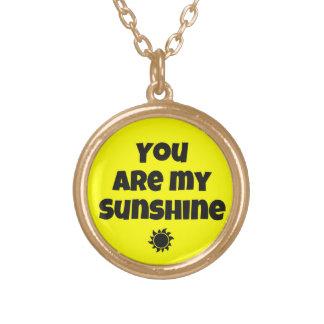 """""""私の日光""""の吊り下げ式のネックレスです ゴールドプレートネックレス"""
