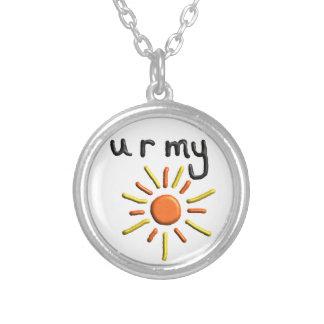 """""""私の日光""""の吊り下げ式のバレンタインのネックレスです シルバープレートネックレス"""