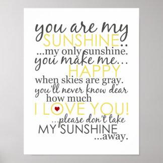 私の日光-白ポスターです ポスター