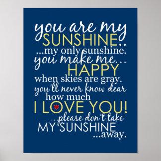 私の日光-青ポスターです ポスター