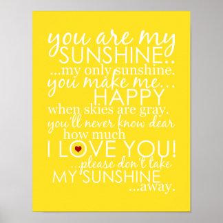 私の日光-黄色-ポスターです ポスター