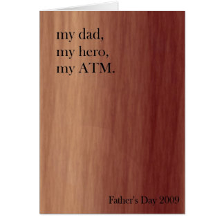 私の日、私の英雄、私の自動支払機 カード