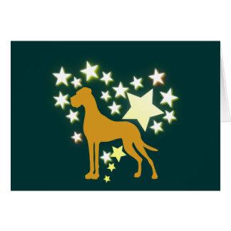 私の星のグレートデーン カード
