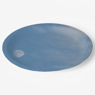 私の昼間の月-カスタムで装飾的な紙皿 ペーパープレート