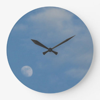 私の昼間の月-装飾的で大きい円形の時計 ラージ壁時計