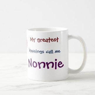 私の最も素晴らしい恵みは私をNonnieのコーヒー・マグと電話します コーヒーマグカップ