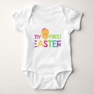私の最初イースター-女の子 ベビーボディスーツ