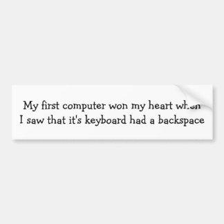 私の最初コンピュータは私のハートに…勝ちました バンパーステッカー