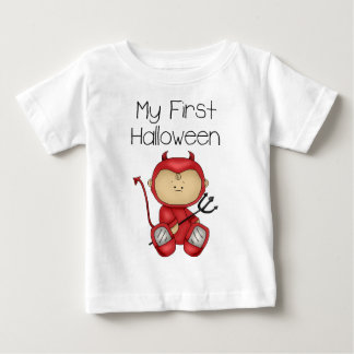私の最初ハロウィンの男の子#1の*T-Shirt* ベビーTシャツ